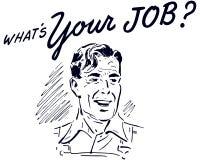 Qué ` s su Job Retro Guy libre illustration