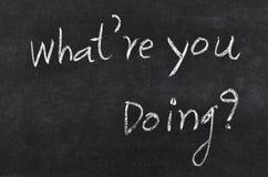 ¿Qué usted está haciendo? Fotos de archivo