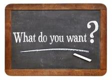 Qué usted quieren la pregunta Foto de archivo libre de regalías