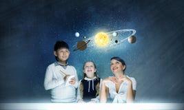 ¿Qué usted sabe sobre espacio? Imagenes de archivo
