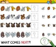 Qué viene historieta siguiente del juego Imagenes de archivo