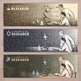 Química banner1 Imagen de archivo libre de regalías
