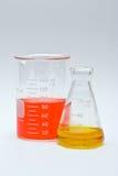 Química colorida fotografia de stock