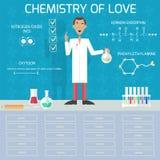 Química del amor Imagen de archivo libre de regalías