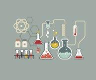Química infographic Imagenes de archivo