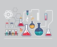 Química infographic Fotos de Stock Royalty Free