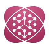 Química rosada de la muestra ilustración del vector