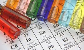 Química. Serie del tubo de prueba foto de archivo libre de regalías
