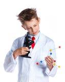Químico entusiasta joven Foto de archivo libre de regalías
