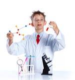 Químico entusiasta joven Fotos de archivo