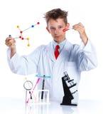 Químico entusiasta joven Imagen de archivo