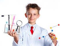 Químico entusiasta joven Imágenes de archivo libres de regalías