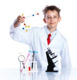 Químico entusiasta joven Imagenes de archivo