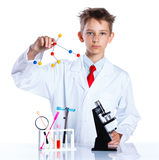 Químico entusiasta joven Fotografía de archivo libre de regalías