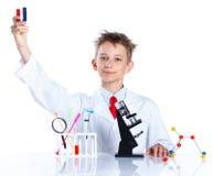 Químico entusiasta joven Fotografía de archivo