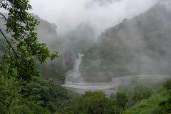 Qu Bing Canyon ist lang und ruhig lizenzfreie stockbilder