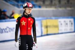 Qu Chunyu κατά τη διάρκεια του Παγκόσμιου Κυπέλλου στοκ φωτογραφία με δικαίωμα ελεύθερης χρήσης
