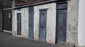Qu'est derrière la porte 5 ? Photo stock