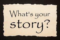 Qu? ` s su historia foto de archivo libre de regalías