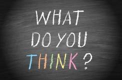 ¿Qué usted piensa? Imagen de archivo libre de regalías