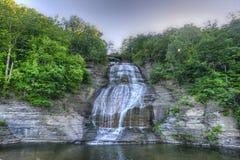 She-Qua-Ga Falls, Finger Lakes, NY. She-Qua-Ga Falls, Finger Lakes, New York. Also known as Montour Falls. She-Qua-Ga Falls (Shequaga Falls) is said to be the Royalty Free Stock Photography