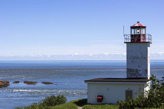 Quaco Head Lighthouse in New Brunswick in Canada Royalty Free Stock Photos