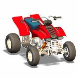 Quad. Motorized vehicle for off road fun Stock Images