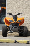 Quad. Front View of an Orange Quad Bike Stock Photo