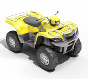 Quad All Terrain Vehicle isolated Stock Photos