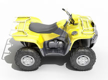 Quad All Terrain Vehicle isolated Royalty Free Stock Photo