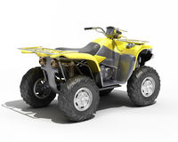 Quad All Terrain Vehicle isolated Royalty Free Stock Photos