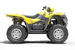 Quad All Terrain Vehicle isolated Stock Photography