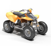 Quad All Terrain Vehicle isolated Stock Images