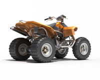 Quad All Terrain Vehicle isolated Royalty Free Stock Photography