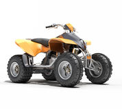 Quad All Terrain Vehicle isolated Stock Image