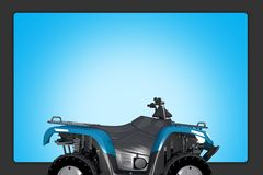 Quad ATV Background Stock Image