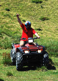 Quad - atv driver Royalty Free Stock Photos