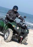 Quad on a beach (ATV) stock photo