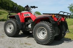 Quad Bike. Four wheel drive red and black quad bike Stock Images