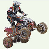 Quad bike. Stock Photo