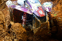 A Quad bike in action. Stock Images
