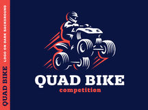 Quad bike competition. Logo design Royalty Free Stock Photos