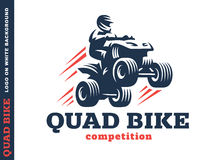 Quad bike competition. Logo design Royalty Free Stock Photo