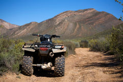 Quad bike in desert Royalty Free Stock Photo