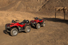 Quad bike on desert, Egypt Stock Photos
