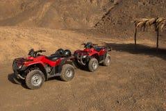 Quad bike on desert, Egypt. 4x4 quad bike on dune in the Egypt stone desert Stock Photos