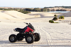 Quad bike in desert Royalty Free Stock Images