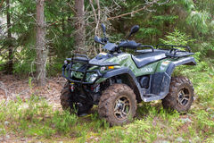 Quad bike at the forest in summertime Royalty Free Stock Image