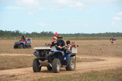 Quad bike fun stock photography