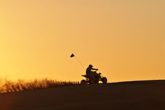 Quad bike in the Golden light Stock Images